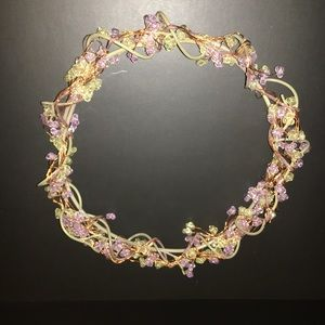 PartyLite Beaded Candle Ring/Wreath